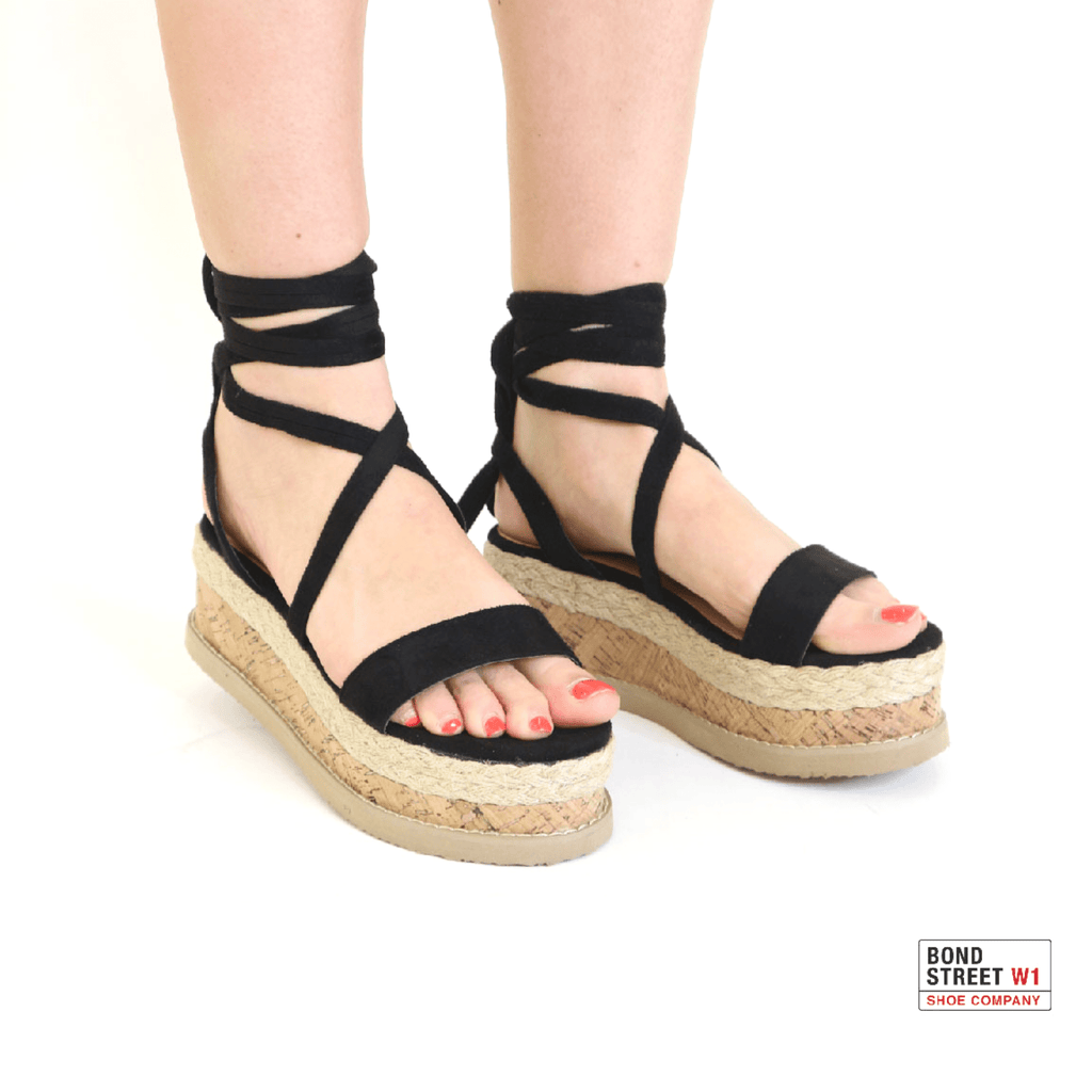 Kayla Black strap sandals with wedge