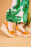Mustard wedge sandal