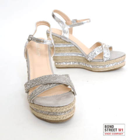Plaited Pewter Wedges KN08-Pewter