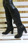 Black Heeled Knee High Boots