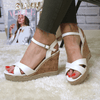 White strap wedges