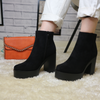 Black Chunky Heeled Boots