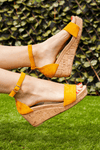 Yellow Midi Wedge