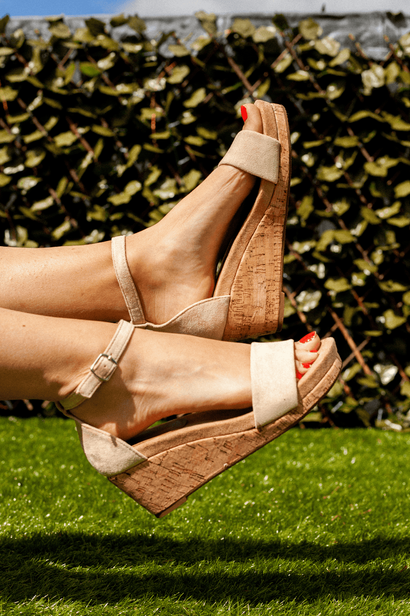 Beige Midi Wedge