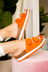 Orange Double Strap Sandal