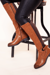 Camel Wide Fitting Knee High Boot