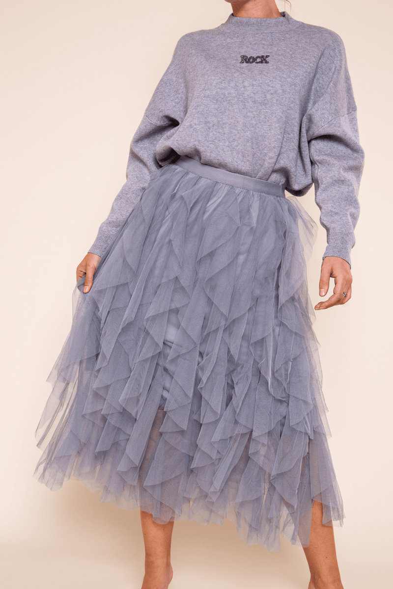 Grey Tiered Skirt