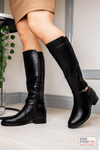 Black Wide Leg Knee High Boot