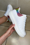 White Chunky Rainbow Trainer