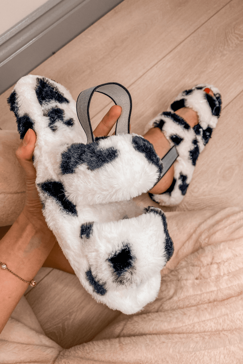 Cow Print Slippers