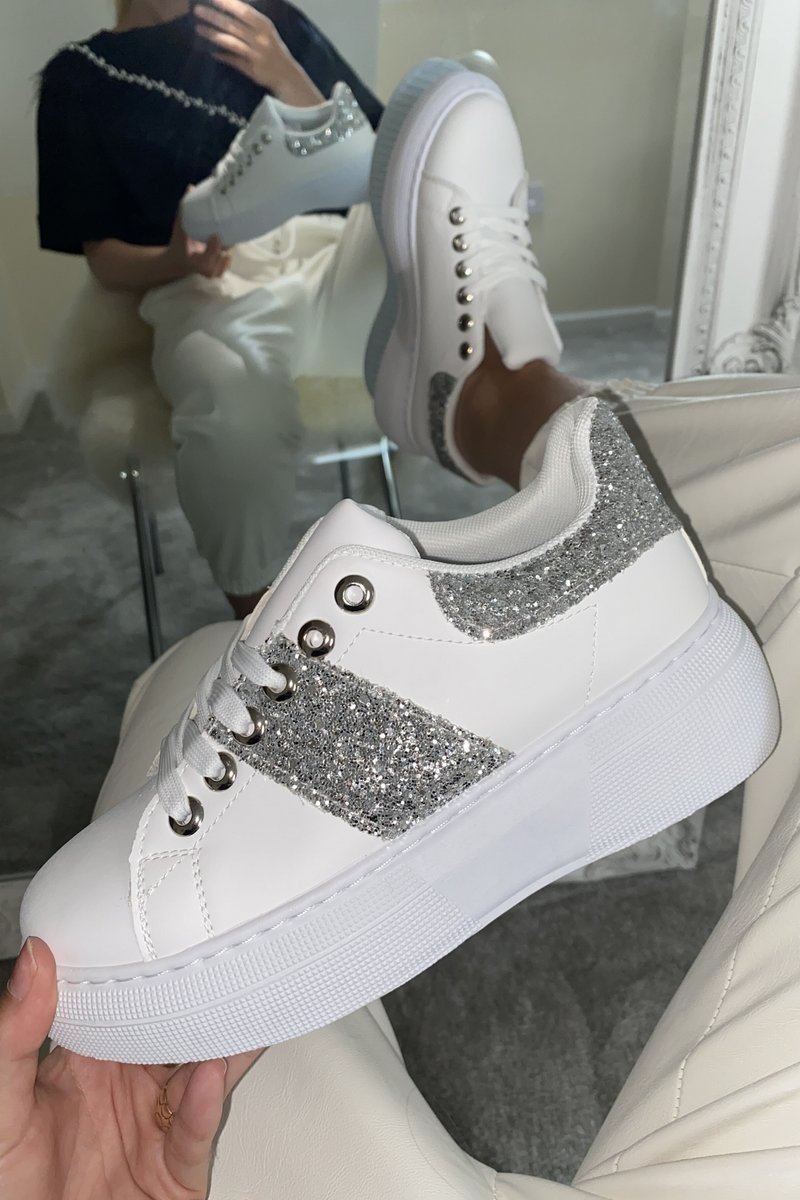 Silver Chunky Trainer