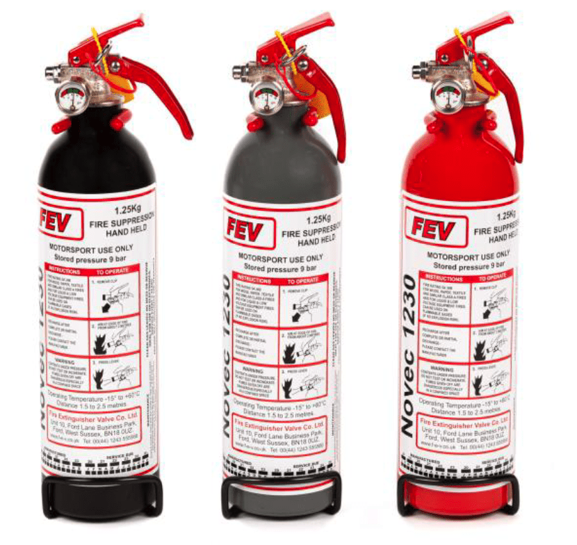 FEV FIRE EXTINGUISHER 1.25KG Novec 1230 Gas Handheld Extinguisher - FEV FE-NOVEC1250HH-MB, FE-NOVEC1250HH-MG and FE-NOVEC1250HH
