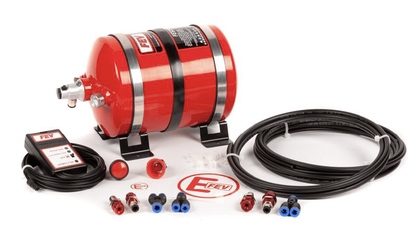 FEV PHYSICAL FEV Electrical Plumbed-In 4 Nozzle AFFF Extinguisher – Aluminium Cylinder - FES350EK