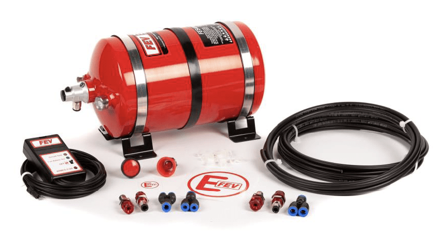 FEV PHYSICAL FEV Electrical Plumbed-In 4 Nozzle AFFF Extinguisher – Aluminium Cylinder - FES400EK