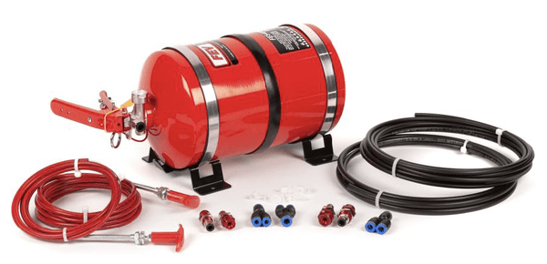FEV PHYSICAL FEV Mechanical Plumbed-In 4 Nozzle AFFF Extinguisher – Aluminium Cylinder - FES400MK