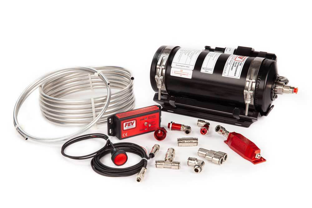 FEV PHYSICAL FEV N-TEC2950R ADS Fire Extinguisher Kit - FIA Approved