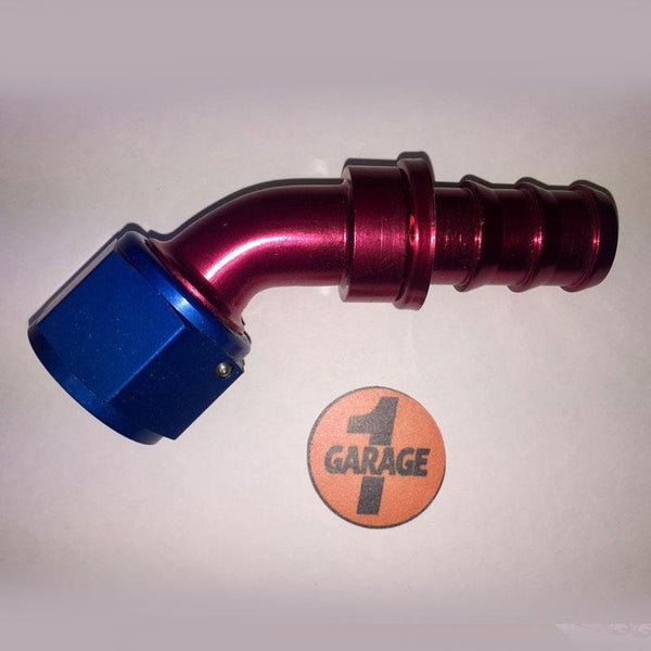 FUEL SAFE PHYSICAL Fuel Safe - Adapter 45degree -12 AN to -12 Hose Barb
