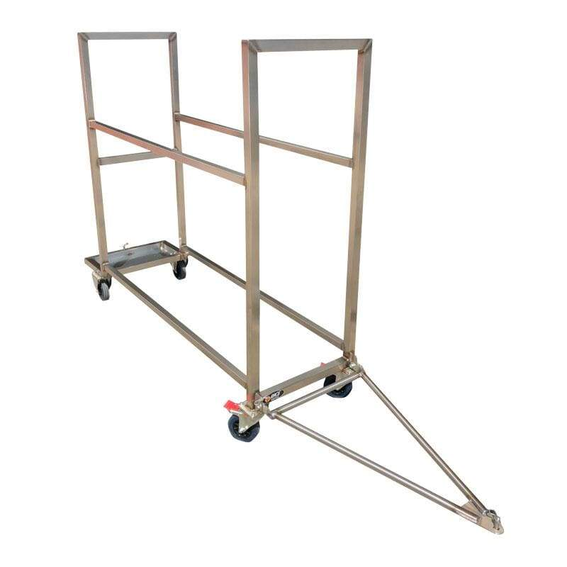 G1Race PHYSICAL Tyre Trolley - Stainless Steel - Transporter Friendly
