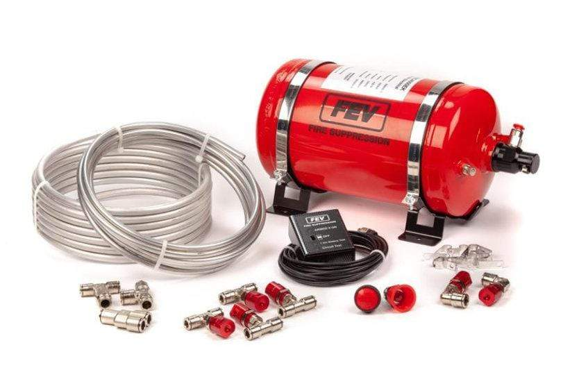 Garage 1 Australia FEV Mechanical Plumbed-In 6 Nozzle AFFF Extinguisher F-TEC4000MK – Steel Cylinder