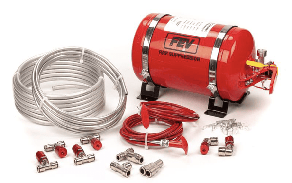 Garage 1 Australia FEV - Mechanical Plumbed-In 6 Nozzle AFFF Extinguisher – Steel Cylinder - F-TEC4000MK