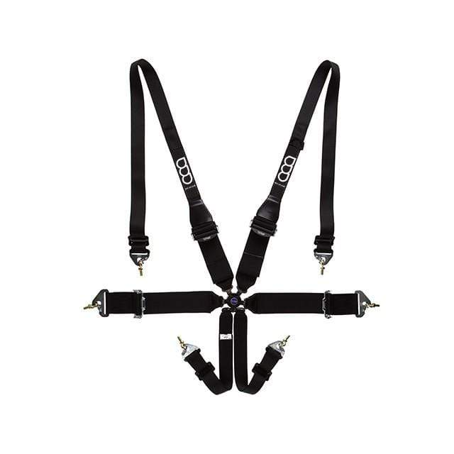 "GP RACE PHYSICAL GP-Race 6 pt Race Harness / Light Hans / 3"" /2"" FIA (Black)"