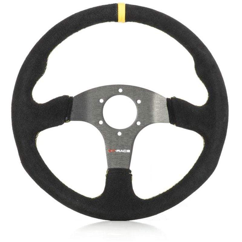 GP RACE PHYSICAL GP-Race Wheel TC2000 350mm - flat , no dish Blk/Suede