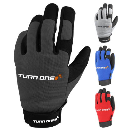 TURNONE PHYSICAL Turn1 Mechanic Glove Black / Orange