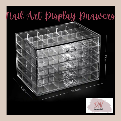 120 piece nail art storage drawers