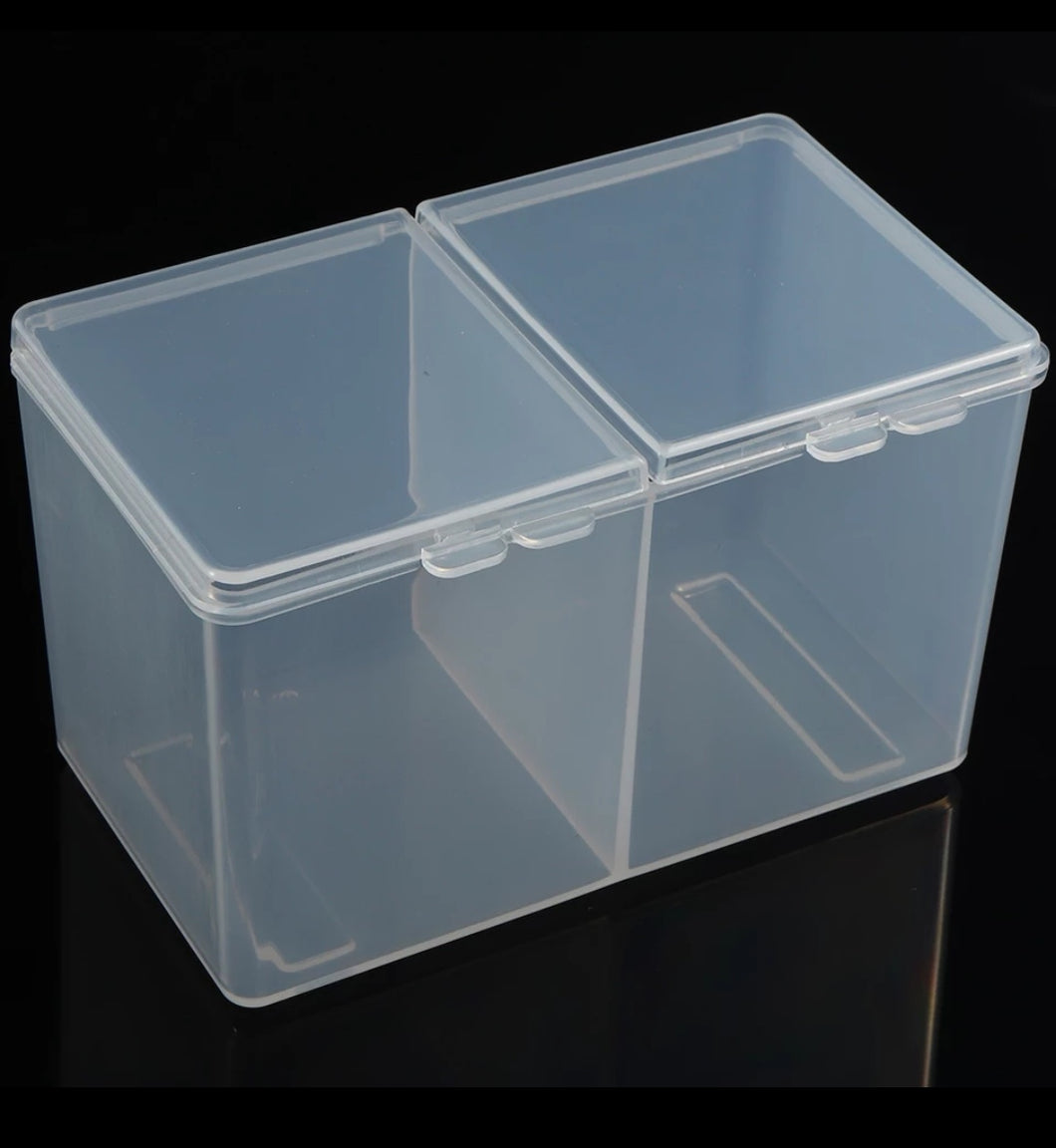 Plastic wipe/storage container CLEAR