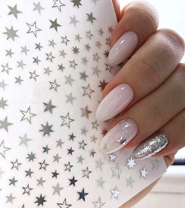 star stickers SILVER