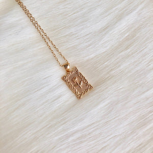 Gold Plated Sterling Silver Rose Necklace