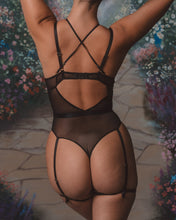 Load image into Gallery viewer, Black Just Peachy Bodysuit