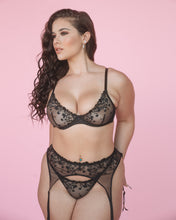 Load image into Gallery viewer, Black Cherry Bomb Lingerie Set