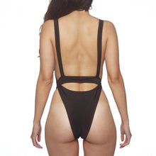 Load image into Gallery viewer, Womens Black One Piece Swimsuit