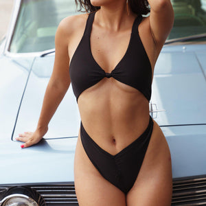 Womens Black One Piece Swimsuit