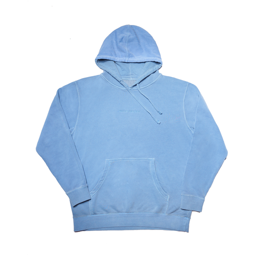 Blue Hoodie with Women Cum First Embroidery