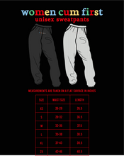 Load image into Gallery viewer, Grey Women Cum First Unisex Sweatpants