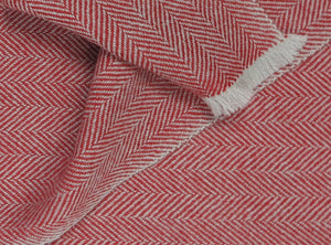manoli charles scarf color red - creme
