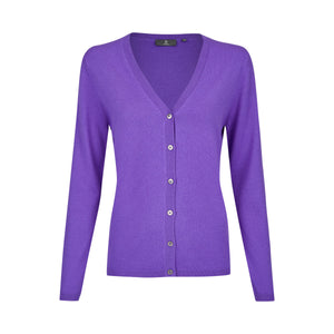 manoli Cashmere Cardigan - SIE - Purple