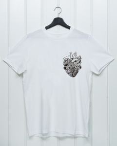 Coral Heart Chest Print - Unisex Shirt