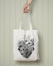 Load image into Gallery viewer, Coral Heart - Totebag
