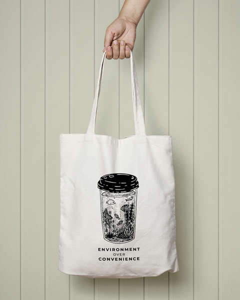 Environment Over Convenience - Totebag