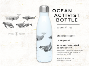 Protect The Ocean - Ocean Activist Stainless Steel Bottle