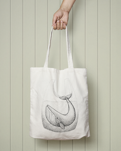 Whale In Bag - Totebag