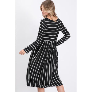 Read Between The Lines Striped Midi Dress