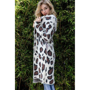 She's Running Wild Animal Print Duster Cardigan
