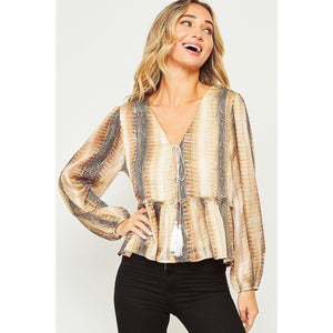 Quite Charming Snakeskin Top