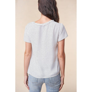 Athena Polka Dot Blouse-Tops-Composed Rose