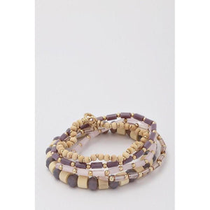 Beaded Multi Layer Stretch Bracelet Set-bracelet-Composed Rose