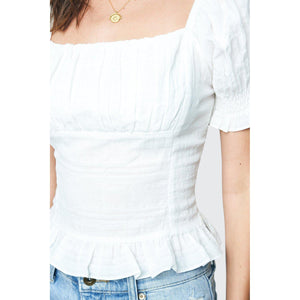 Better Together Puff Sleeve Crop Top-Top-Composed Rose